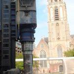 Feestelijke paal nieuwbouwplan Westewagenstraat te Rotterdam