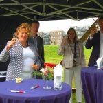 Gemeente Ridderkerk en Timpaan, AMARE Vastgoed en Bouwbedrijf Wagemakers tekenen overeenkomst voor 133 nieuwbouwwoningen