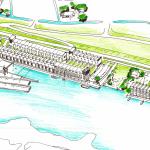 Nieuwe woonwijk met getijdenpark op De Noordoevers in Hendrik-Ido-Ambacht
