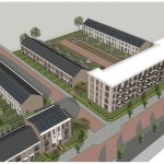 Trivire en Trebbe bereiken hoogste punt bouw 30 appartementen en 18 eengezinswoningen Patersweg Oud Krispijn in Dordrecht